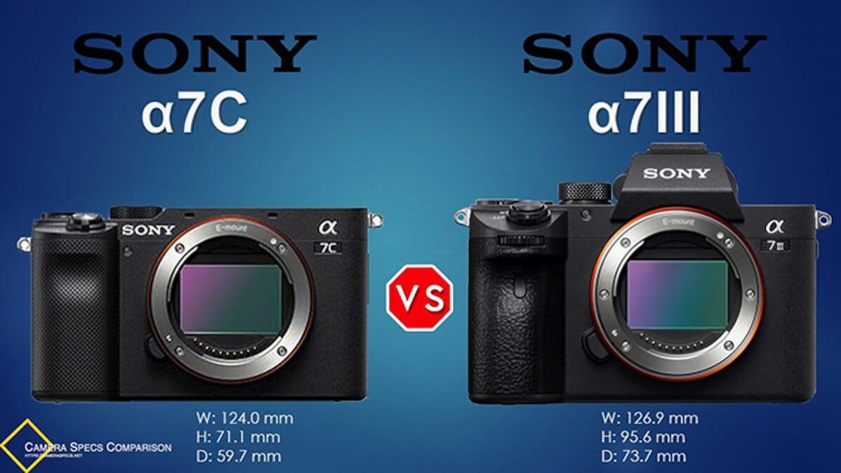 Sony a7III vs Sony a7C Camera Size Comparison